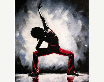 "Dance Ballet Painting ""Moscow' - STUDIO SALE 30% off - 16x20 Original Acrylic Painting Dancer Modern Ballerina"