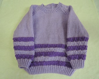 Baby Toddler jumper Unique Hand Knitted 22 Inch 18 Months