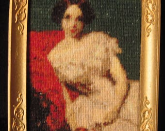 Cross stitch kit for the dollshouse 1:12 Annie Gambart