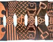 Copper Bowtie Set - Bowtie - Suit, Tuxedo Accessory - Batman, DC Comics, Avengers, Marvel, Groomsman set, Set of 5, Anniversary