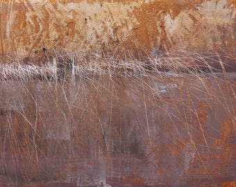 """Original Abstract Oil Painting,  """"The Gate"""" , 9""""x12"""", by  artist John Kelley"""