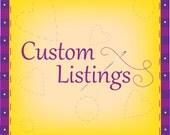 Custom Listing Reserved for Danea Lukis