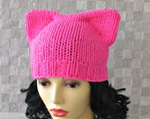 Neon Pink Pussyhat ,Pussy Cat Hat ,Nasty women Feminist Hat ,Pink Pussy Hat, Pink Cat Hat , Women's March Hat