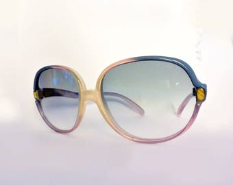 Blue lilac vintage round sunglasses new old stock