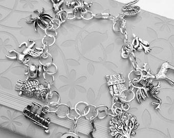 SALE - Story themed Harry Potter charm bracelet - Wizard story themed charms.....