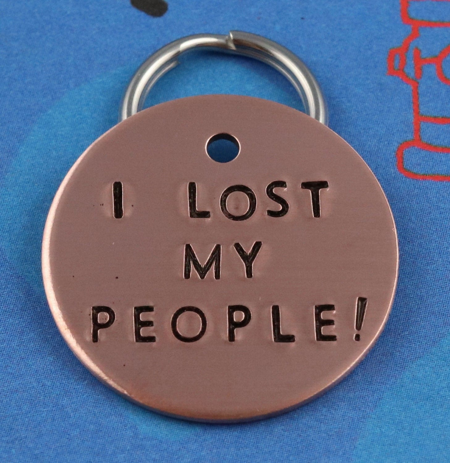 Funny Dog Name Tag Unique Pet Id Tag Handstamped I Lost