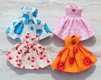 CLEARANCE..BLYTHE Middie doll Its my party dresses x 4 - mixed bag