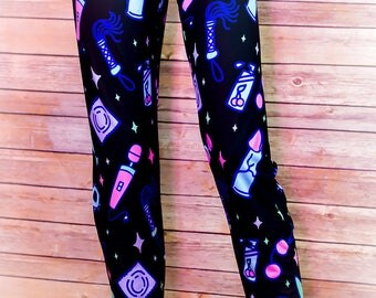 Sexy Time Adult Toy Pastel Print Leggings