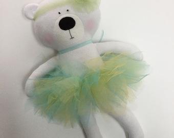 Polar bear, bear, stuffed bear, play doll, stuffed animal, animal doll