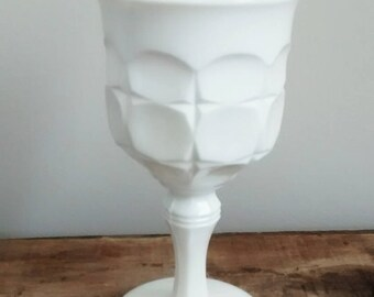 Vintage Milkglass Goblet