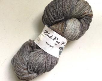 40% Off Hand Dyed Merino Wool Black Pug Knits Yarn Winter Storm Warning Grey 210 Yards