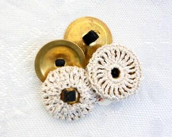 Hemp Shimmer  Zill covers mufflers, finger cymbals - 1 set of 2, natural hemp silk