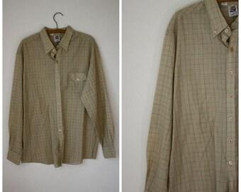Sale Vintage Kennington Shirt / Mens Vintage Shirt / 70s Vintage Shirt / 1970's Shirt / Hipster Shirt / The Crucial  Shirt M/L