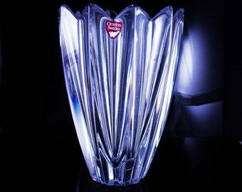 Orrefors vase Jan Johansson Sweden vase lead crystal vase designer fleur vase signed vase clear art glass vase wedding gift