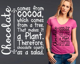 Chocolate Comes From Cocoa | Funny Tee | Chocolate Lover Gift | Chocolate Shirt | Chocolate Quotes | Korena Loves