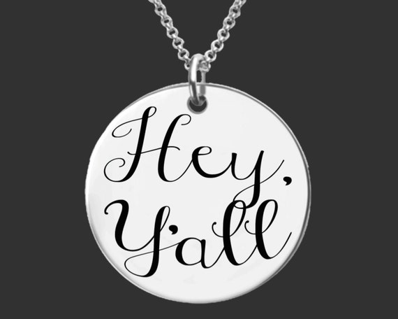 Hey Y'all   Cowgirl Jewelry   Country Girl Jewelry   Cowgirl Necklace   Country Girl Necklace   Personalized Gifts   Korena Loves