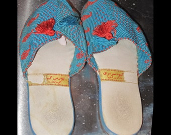 Vintage Morrocan handmade slippers, size approx 4