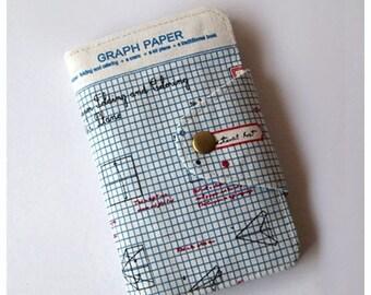 SALE 25% Passport Wallet, iphone Wallet - Graph Paper