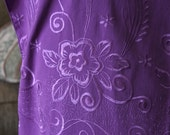 6 foot Embroidered Purple shawl with 9 1/2 inch fringe, 25 inches wide,  purple, large shawl, Birthday, Mother's Day, Easter gift, .