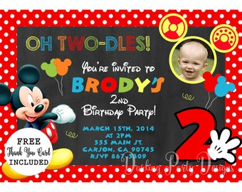 Mickey Mouse Clubhouse 1St Birthday Invitations gangcraftnet