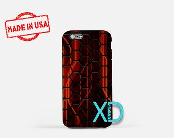 Honeycomb iPhone Case, Red iPhone Case, Honeycomb iPhone 8 Case, iPhone 6s Case, iPhone 7 Case, Phone Case, iPhone X Case, SE Case New