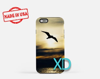 Seagull iPhone Case, Beach iPhone Case, Ocean iPhone 8 Case, Silhouette, iPhone 6s Case, iPhone 7 Case, Phone Case, iPhone X Case, SE Case
