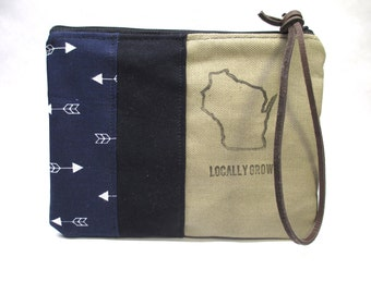 "Hand Made Clutch / Wisconsin ""Locally Grown"" Bag"