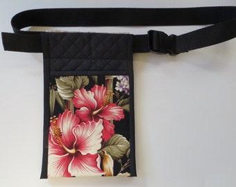 Lomi lomi massage oil holster, Massage lotion bottles holster, Hawaiian massage holster, Hawaian Hibiscus Holster 02