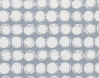 SALE Gray Quilt Fabric Touchstone by Shell Rummel  Soft Repose Grey Dot Fabric Stripe Fabric Geometric Circles Gray Material