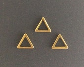 10pcs, Gold filled Triangle Pendant Charm Link 8mm, Gold Triangle Charms, Gold Triangle Pendant, gold fill Triangle link, Geometric Charms
