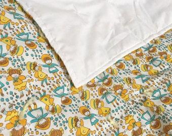 Vintage handmade quilt, happy children!