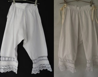 Victorian Bloomers With Lace Edging