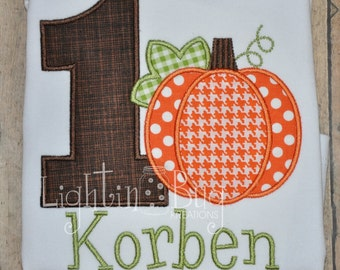 Pumpkin Patch Birthday Personalized Shirt