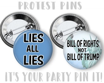 Anti Trump PIN Not My President Button 2.25 inch pinback button pin badge PROTEST Pins  Pins Protest Pins Trump Lies Protest Pins
