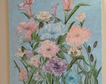 Large Original Floral Painting