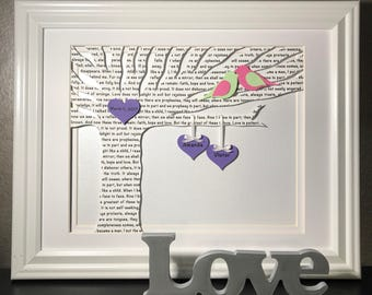 First Anniversary Gifts, Unique Wedding Gifts, First Dance Song Lyrics, Wedding Tree, 1st Anniversary Paper Gift, Wedding Vows, Framed Art