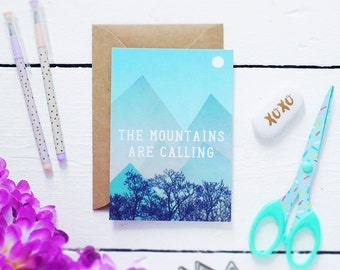 SALE - HALF PRICE - The Mountains Are Calling - Postcard