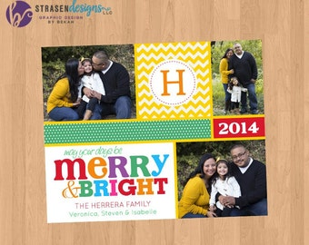 Merry & Bright Colorful Christmas Card