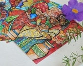 Set of Ten Print Postcards, Bulk Listing, Wholesale, Art Prints