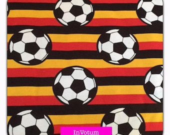 Cotton Jersey football Germany black red gold, 50 cm
