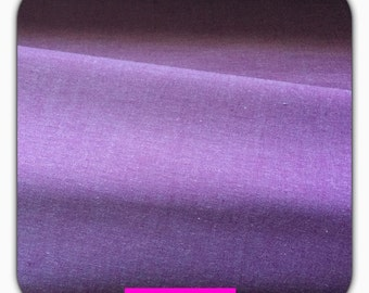 Cotton yarn dyed fabric, uni lilac, 50 cm