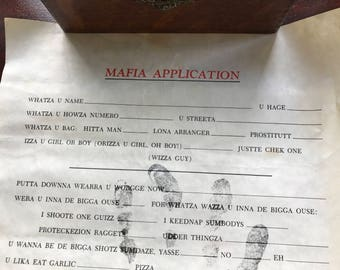 Classic Mafia Application from the 1980's.