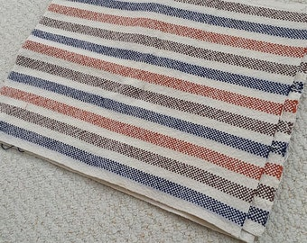 "Handwoven 100% Cotton Fabric, Dish Towel Fabric, Prewashed, 15.5"" Wide, 76"" long piece"
