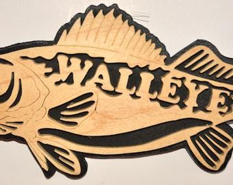 Walleye Scroll Saw Wall Plaque