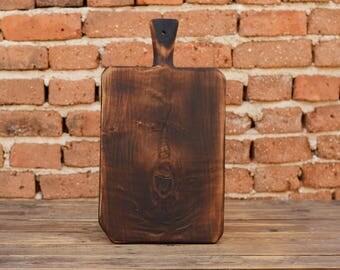 Solid wood kitchen board, Breakfast board, Wooden serving platter, Kitchen decor, Gift for her, Wooden board, Cutting board