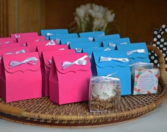 Gender Reveal Party Kit: Pink & Blue Reveal Fizz | Banner | Favor Bags
