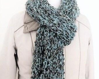 Fashion scarf for women, fancy scarf, hand knit scarf, handmade scarf, multi colour long scarf, ladies scarf, drop stitch scarf, scarf UK