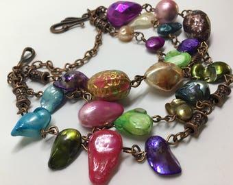 Freshwater Pearl Bronze Bracelet.