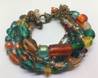 Czech Glass Beaded Bracelet.
