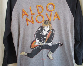 Vintage 80s 1982 Aldo Nova Concert Tour Jersey T Shirt XL